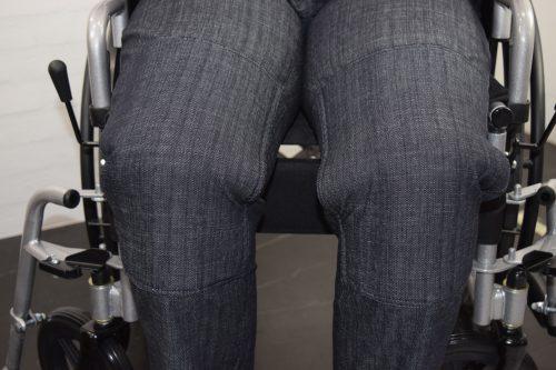 Alm. Jeans-bukser med knælapper